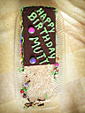 half eaten birthday cake - FBF000349