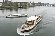 Netherlands, Maastricht, Meuse river and excursion boats - HL000461