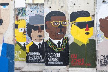 Germany, Berlin, graffiti on Berlin Wall segments - RJ000102