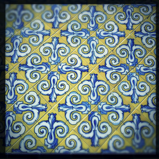 Tiles on the facade of the Mercado Central, Spanish modernism, Spain, Valencia - DISF000796