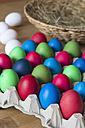 Carton of coloured Easter eggs - YFF000101