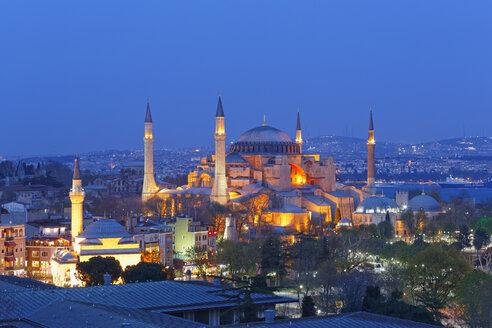 Turkey, Istanbul, Haghia Sophia at dusk - SIEF005302