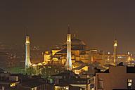 Turkey, Istanbul, Hagia Sofia Mosque by night - SIEF005310