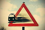 Moving train leaving sign, composite - HOHF000726