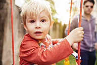Portrait of little boy on a swing - MFF001092