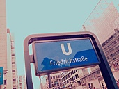 Subway sign Koch Strasse, Checkpoint Charlie, Berlin, Germany - RIMF000227
