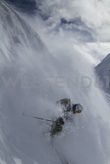 Austria, East Tyrol, Defereggental, Man backcountry skiing - FF001408 - Franz Faltermaier/Westend61