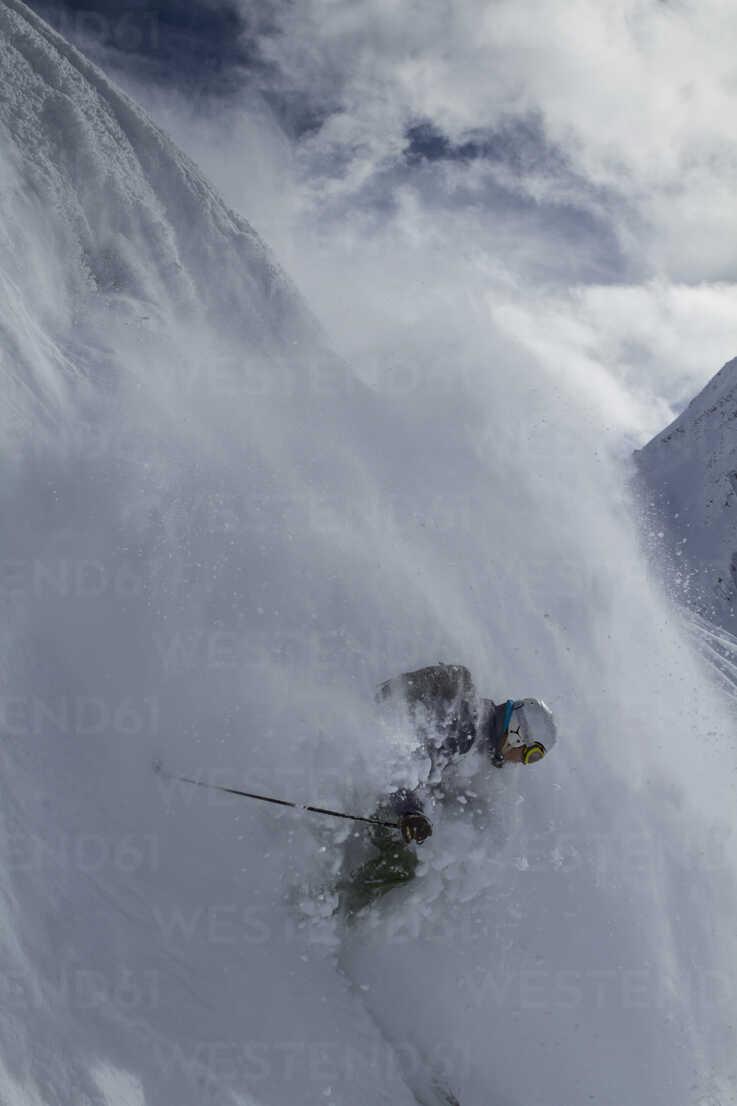 Austria, East Tyrol, Defereggental, Man backcountry skiing - FF001408 - Franz Faltermaier/Westend61