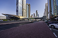 UAE, Dubai, Trade Center metro station - THAF000284