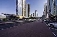 UAE, Dubai, Trade Center metro station - THAF000284
