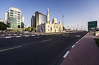 UAE, Dubai, Mosque at Al Maktoum Roand - THAF000282