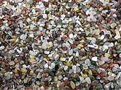 Ruegen, Baltic Sea, Mecklenburg-Vorpommern, island, semi-precious stones, jade, tiger eye, rose quartz, Bergkristal - MJF001049