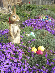Easter, Easter eggs, Easter, Easter Bunny, Holiday, Tradition, Saxony, Germany, Aubretia - MJF001027
