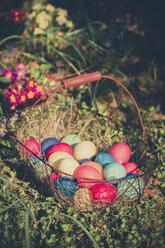 Easter basket in garden - MJF000984