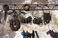 Germany, Bavaria, Josefsthal, tools at historic blacksmith's shop - TCF003934