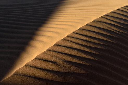 Algeria, Tassili n Ajjer, Sahara, sand ripples on a desert dune - ESF001023