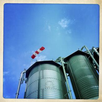 Storage silos, whiskey distillery, Austria, Waldviertel, Roggenreith - DISF000810