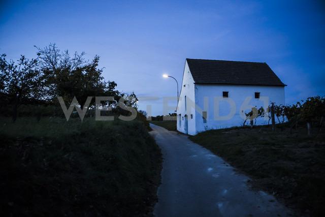 Austria, Lower Austria, Weinviertel, Kellergasse in the evening - DISF000828