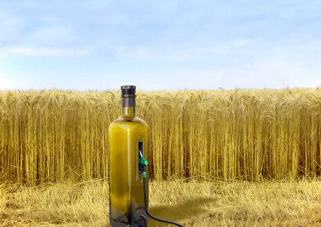 E 10, Petrol pump as oil bottle at field - KLR000013