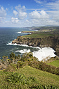Portugal, Azores, Sao Miguel, Cliff line at Ferraria - ONF000517