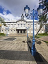Caribbean, Antilles, Lesser Antilles, Martinique, Fort-de-France, Old street lamps in front of townhall - AMF002197