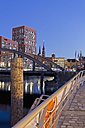 Germany, Hamburg, Bridge and new buildings in Hafencity - MSF003852