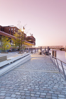 Germany, Hamburg, Ferry dock at Magdeburger Hafen in Hafencity - MSF003858