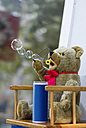 Teddy bear blowing soap bubbles - KLR000037