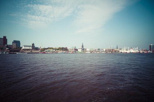 Germany, Hamburg, Port of Hamburg, Skyline, Cityscape - KRPF000496