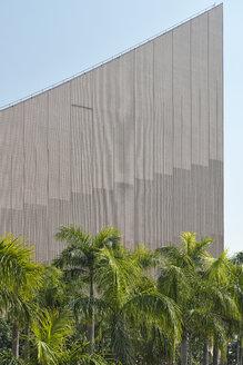 China, Hong Kong Cultural Centre in Kowloon behind palm trees - SHF001264