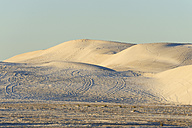 Australia, Western Australia, Lancelin, view to the white sand dunes by sunset - MIZ000477