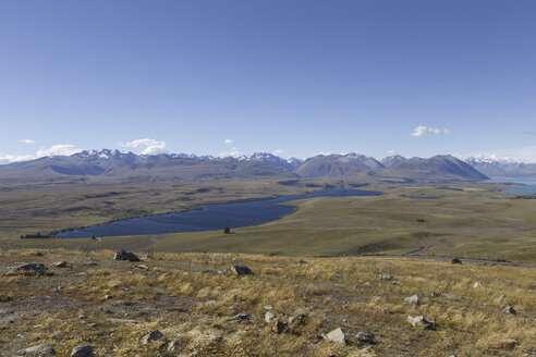 New Zealand, view to Lake Tekapo from Mount John - STDF000081