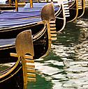 Italy, Veneto, Venice, Gondolas, Bow decorations - FCF000177