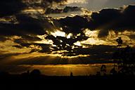 Germany, North Rhine-Westphalia, Minden, Sunset, Dramatic sky - HOHF000780