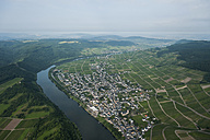Germany, Rhineland-Palatinate, aerial view of Kroev with Moselle River - PAF000655