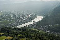Germany, Rhineland-Palatinate, aerial view of Traben-Trarbach with Moselle River - PAF000640