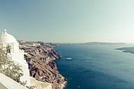 Greece, Cyclades, Santorini, Thera, view to caldera - KRPF000520