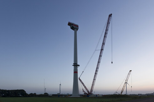 Germany, Lower Saxony, Wind turbine installation - SJF000109