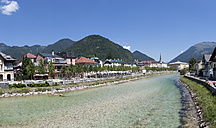 Austria, Upper Austria, Bad Ischl, Townscape with River Traun - WWF003236