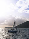 Caribbean, Martinique, Sainte-Anne, Sailing yacht on the ocean - AM002216