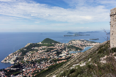Croatia, Dubrovnik, view from mountain Srd to new city - WEF000092