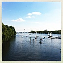 Germany, Hamburg, A summer's day on the Alster - MMO000086