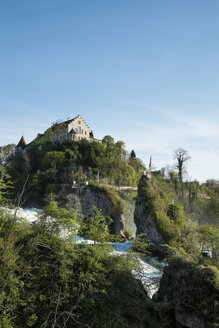 Switzerland, Schaffhausen, Rhine falls with Laufen Castle - ELF000975