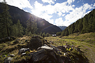 Austria, Tyrol, Kals am Grossglockner, landscape with rainbow - MKLF000011