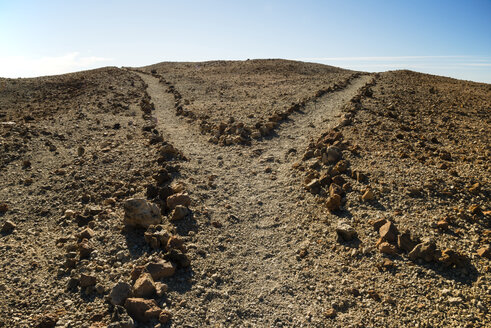 Spain, Canary Islands, Tenerife, Teide National Park, Montana Blanca, junction at hiking path - WGF000289