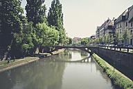 France, Alsace, Strasbourg, L'ill River Bridge - SBDF000908