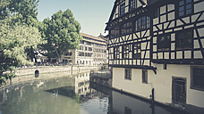 France, Alsace, Strasbourg, L'ill River, Petite-France District - SBDF000911