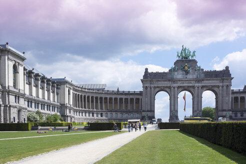 Belgium, Brussels, Parc du Cinquantenaire, Triumphal Arch - WIF000676