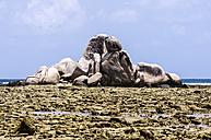 Indonesia, Riau Islands, Bintan, Nikoi Island, Grnaite rocks at beach - THAF000366