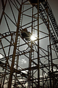 Germany, view to roller coaster in back light - HOH000803